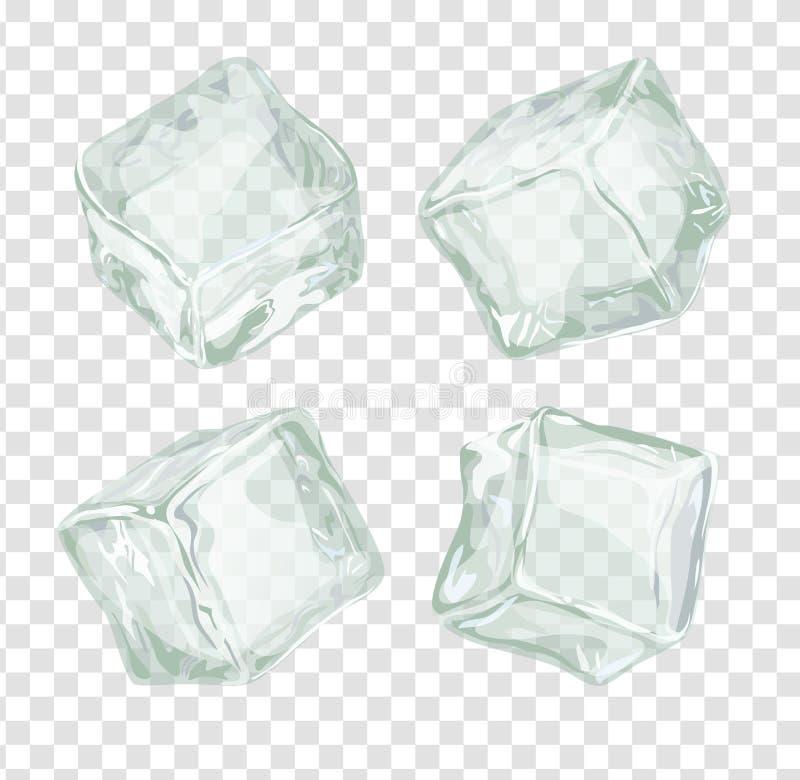 Geplaatste ijsblokjes royalty-vrije illustratie
