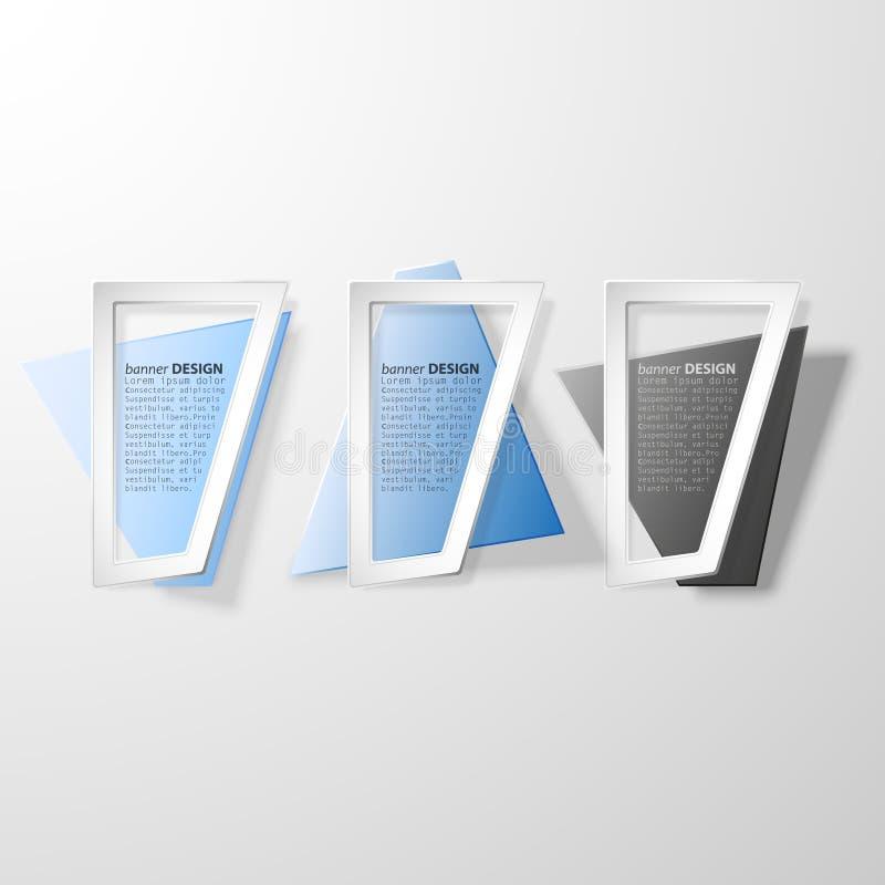 Geplaatste Infographicbanners, origami gestileerde vector stock illustratie