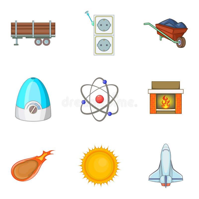 Download Geplaatste Inspanningspictogrammen, Beeldverhaalstijl Vector Illustratie - Illustratie bestaande uit hydro, clean: 107707991