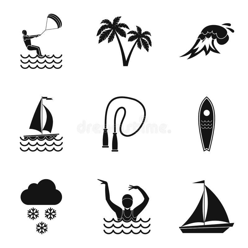 Download Geplaatste Instructeurspictogrammen, Eenvoudige Stijl Vector Illustratie - Illustratie bestaande uit pictogrammen, geïsoleerd: 114225783