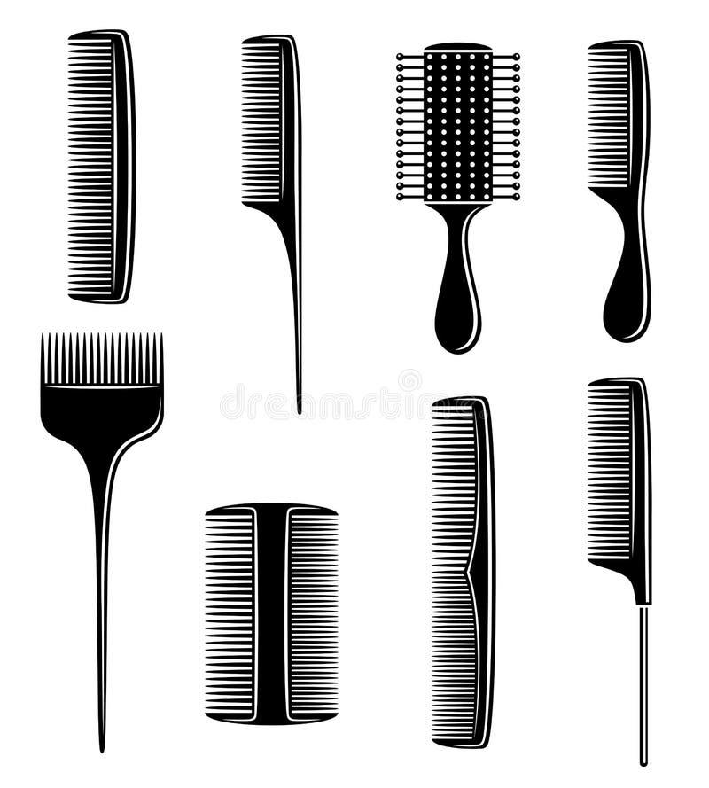 Geplaatste kammen Vector stock illustratie