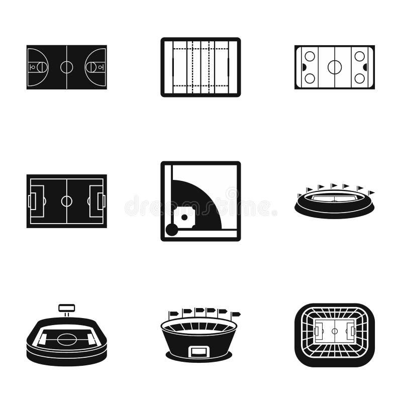 Geplaatste kampioenschapspictogrammen, eenvoudige stijl vector illustratie