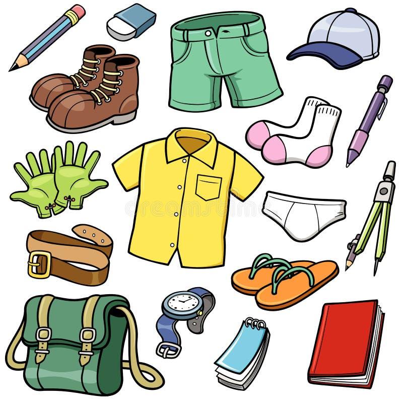 Geplaatste kleren stock illustratie