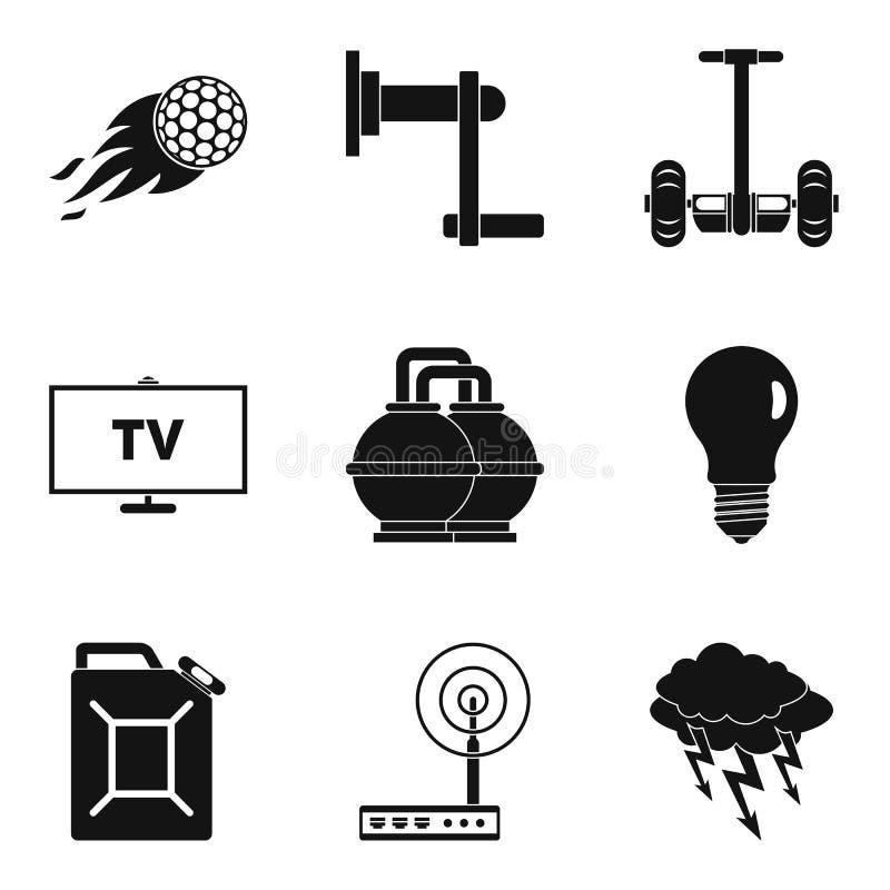 Download Geplaatste Krachtpictogrammen, Eenvoudige Stijl Vector Illustratie - Illustratie bestaande uit huis, behoud: 107707879