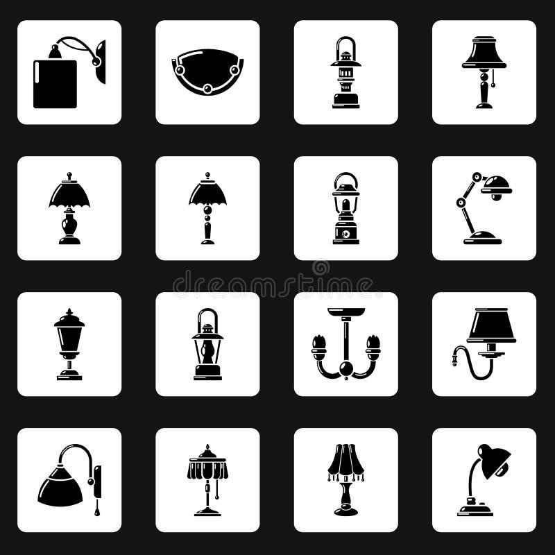 Download Geplaatste Lamppictogrammen, Eenvoudige Stijl Vector Illustratie - Illustratie bestaande uit grafisch, bliksem: 114225699