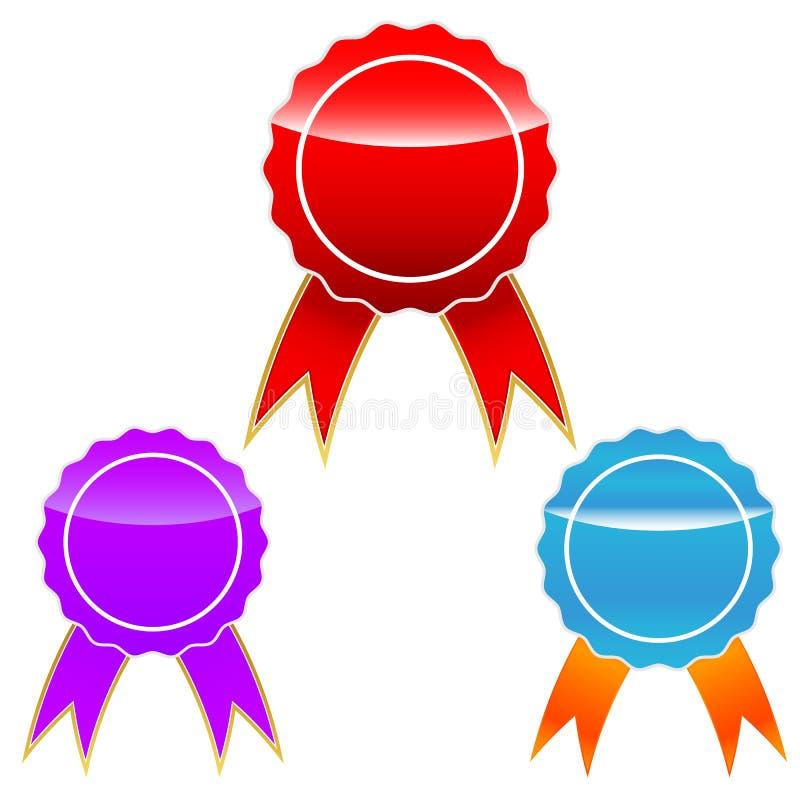 Geplaatste medailles vector illustratie