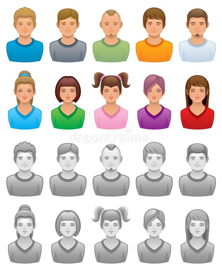 Geplaatste mensen royalty-vrije illustratie