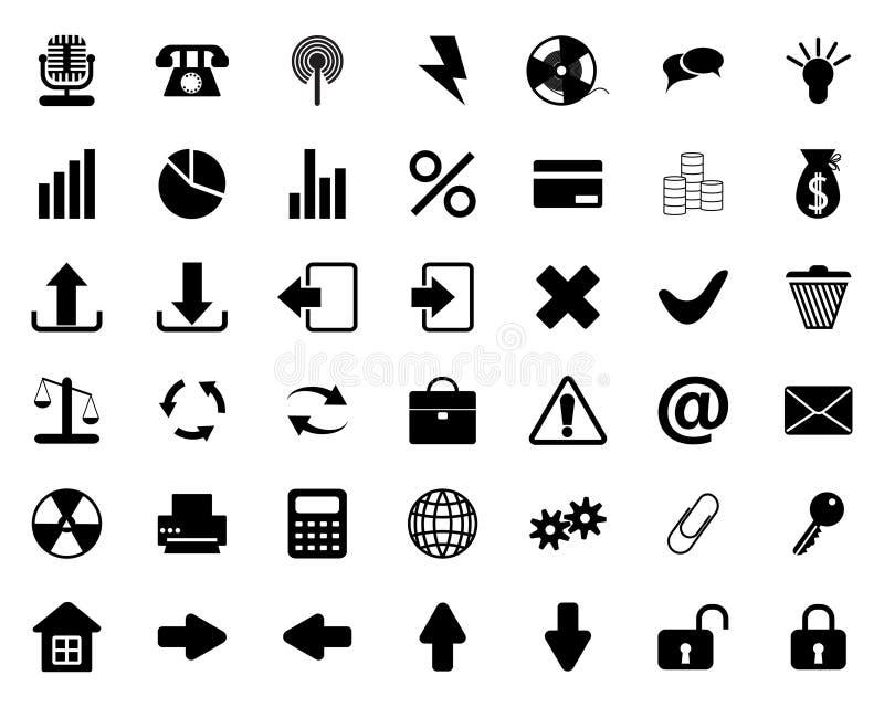Geplaatste pictogrammen stock illustratie