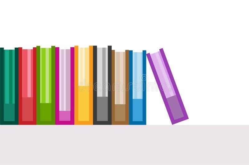 Geplaatste pictogrammen van het boeken de vectorembleem Concept voor marketing en elektronische handel stock illustratie