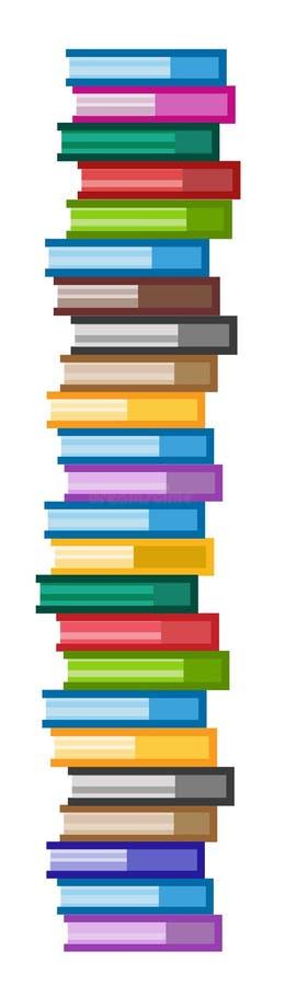 Geplaatste pictogrammen van het boeken de vectorembleem scyscraper royalty-vrije illustratie