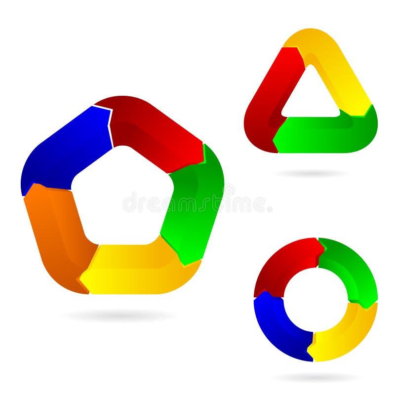 Geplaatste pijlen vector illustratie