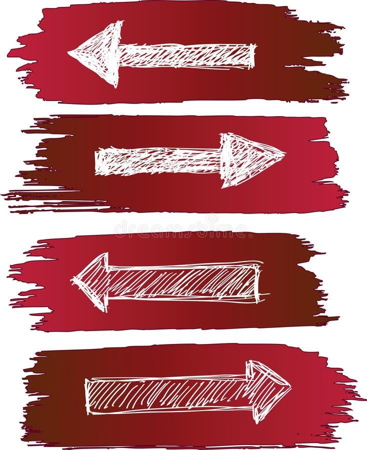 Geplaatste pijlen grunge royalty-vrije illustratie