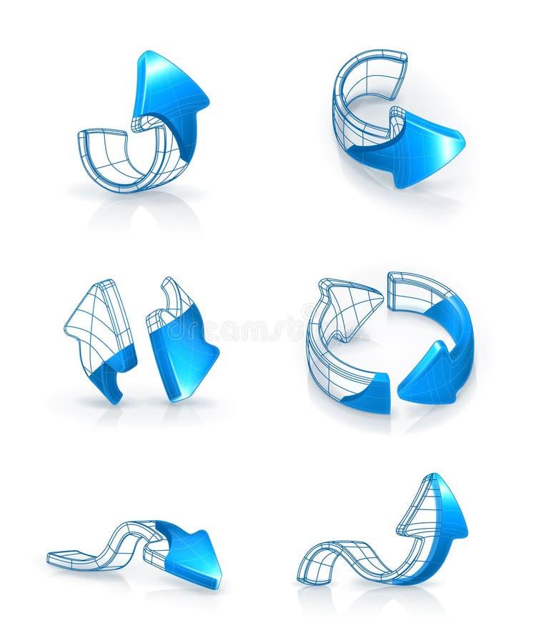 Geplaatste pijlen, het trekken vector illustratie