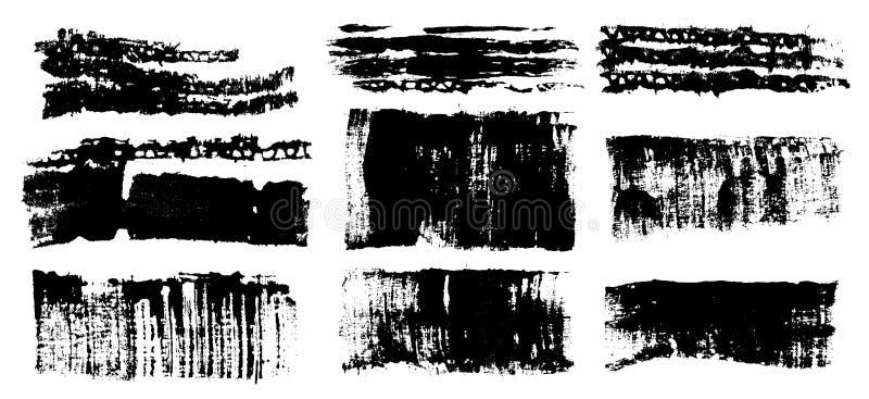 Geplaatste slagen vector illustratie