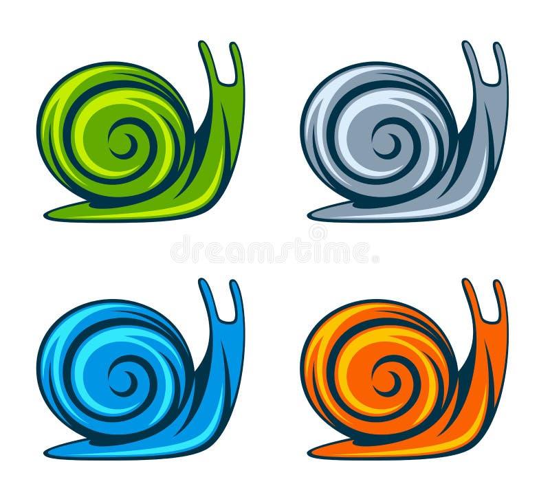 Geplaatste slakken royalty-vrije illustratie