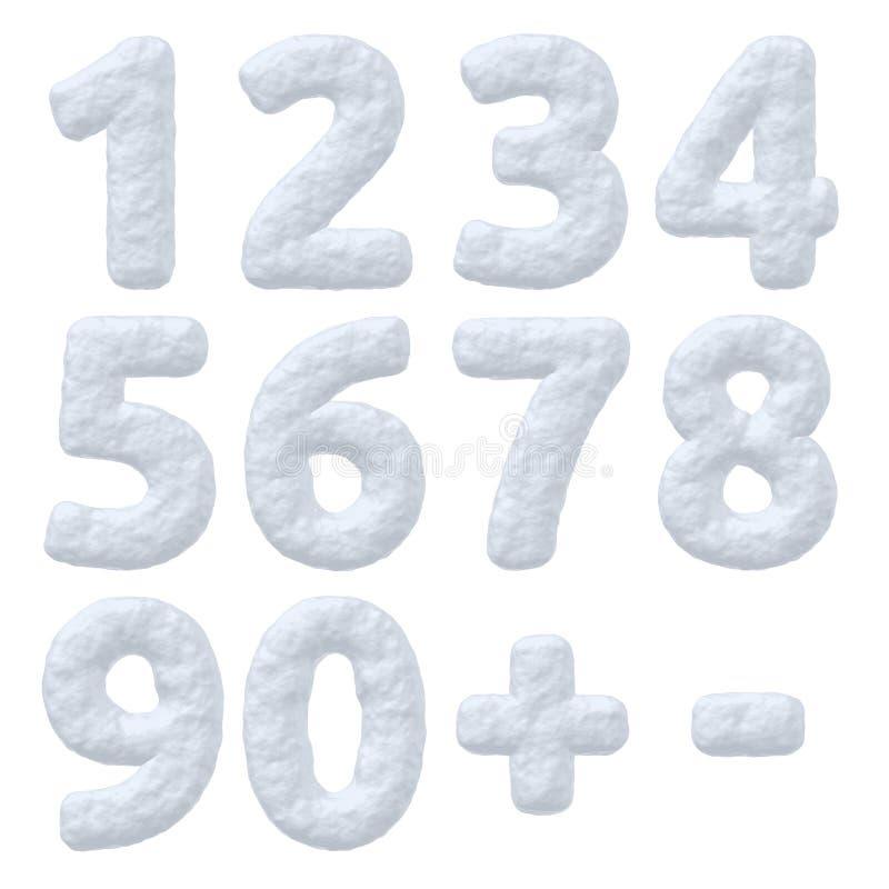 Geplaatste sneeuwaantallen stock illustratie