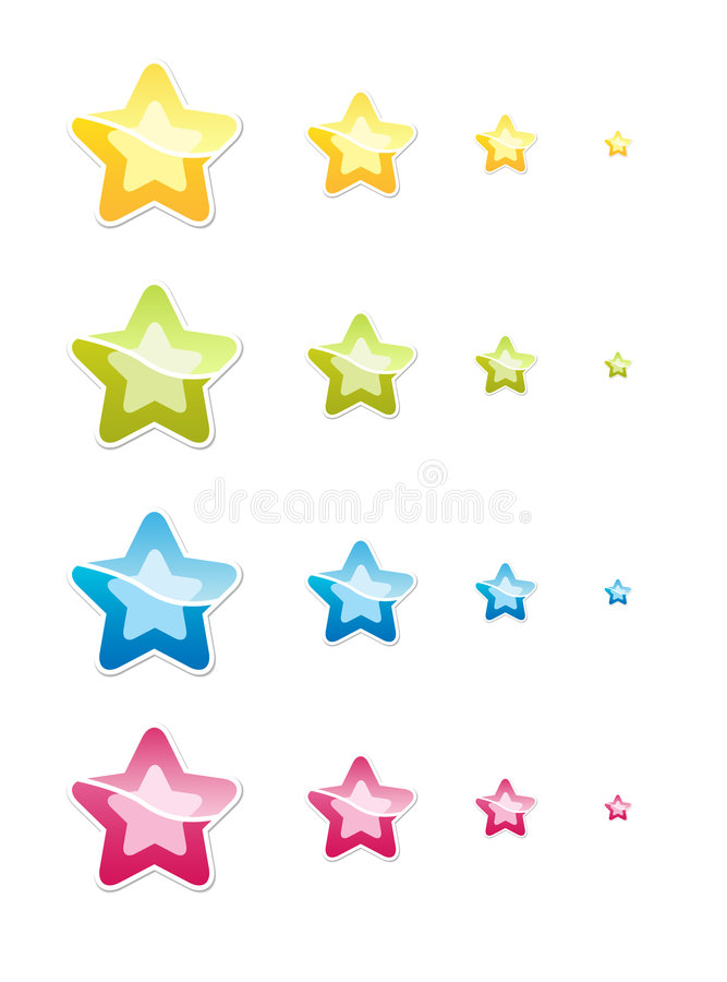 Geplaatste sterren royalty-vrije illustratie
