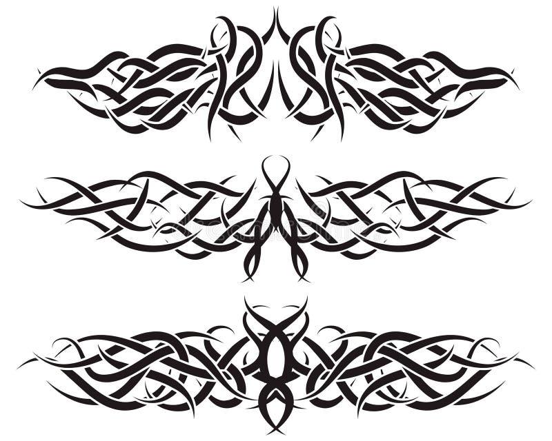 geplaatste tatoegeringen royalty-vrije illustratie