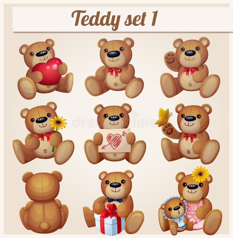 Geplaatste teddyberen Deel 1 royalty-vrije illustratie