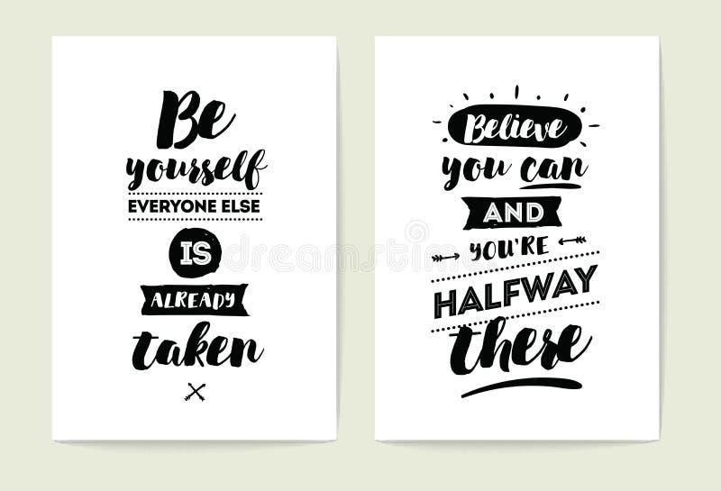 Geplaatste typografiekaarten