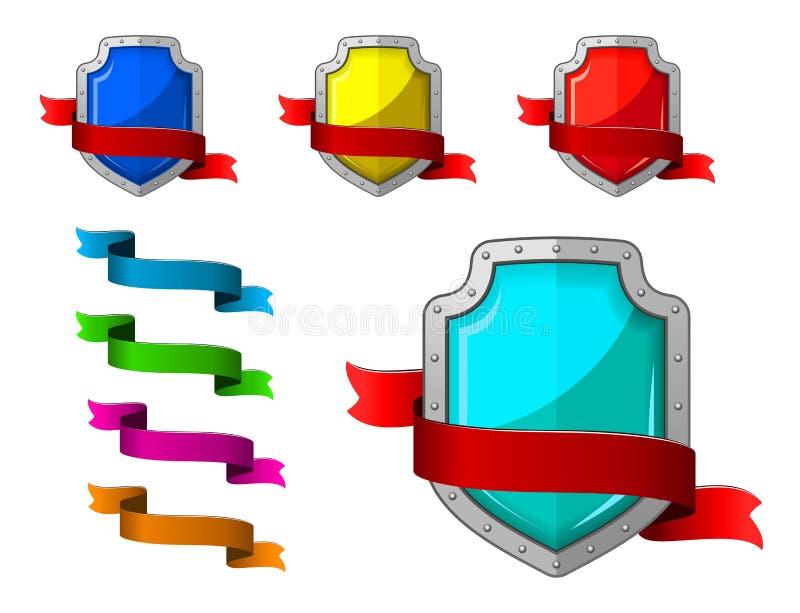 Geplaatste Veiligheidspictogrammen Royalty-vrije Stock Afbeeldingen