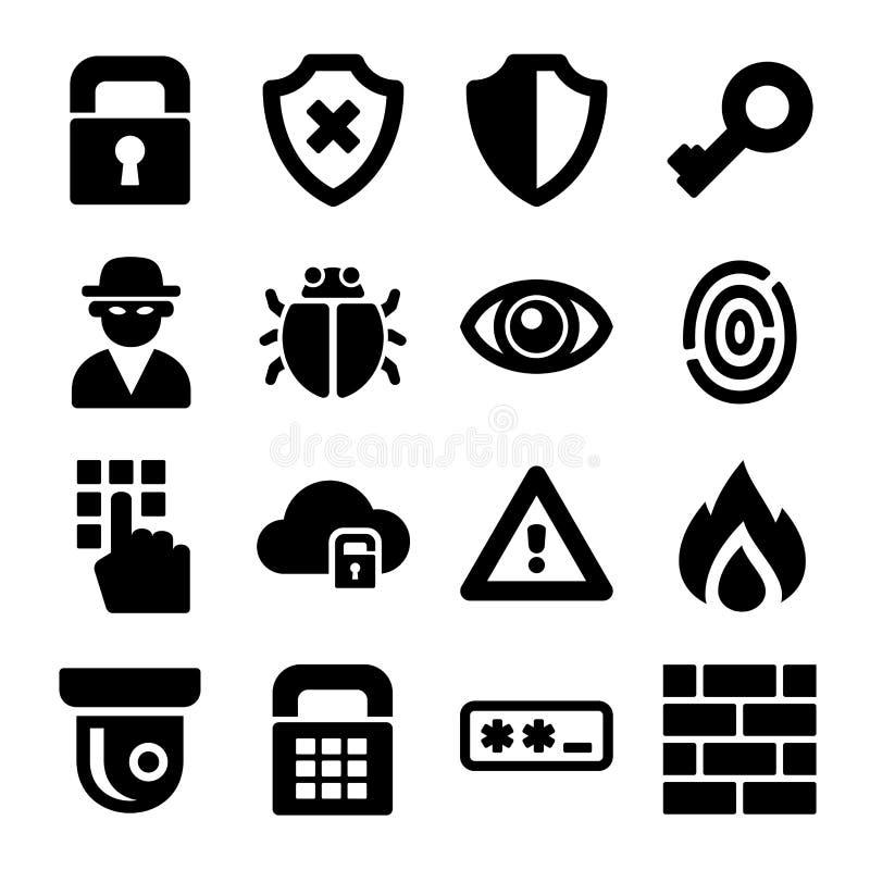 Geplaatste veiligheidspictogrammen vector illustratie