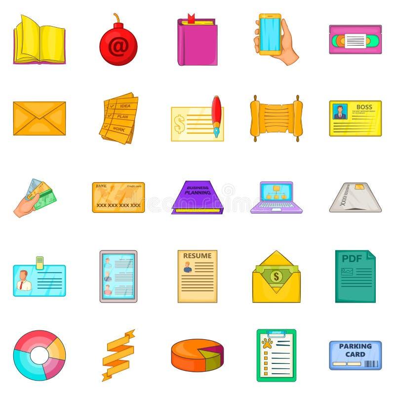 Download Geplaatste Versiepictogrammen, Beeldverhaalstijl Vector Illustratie - Illustratie bestaande uit teller, document: 107707843