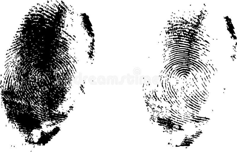Geplaatste vingerafdrukken stock illustratie