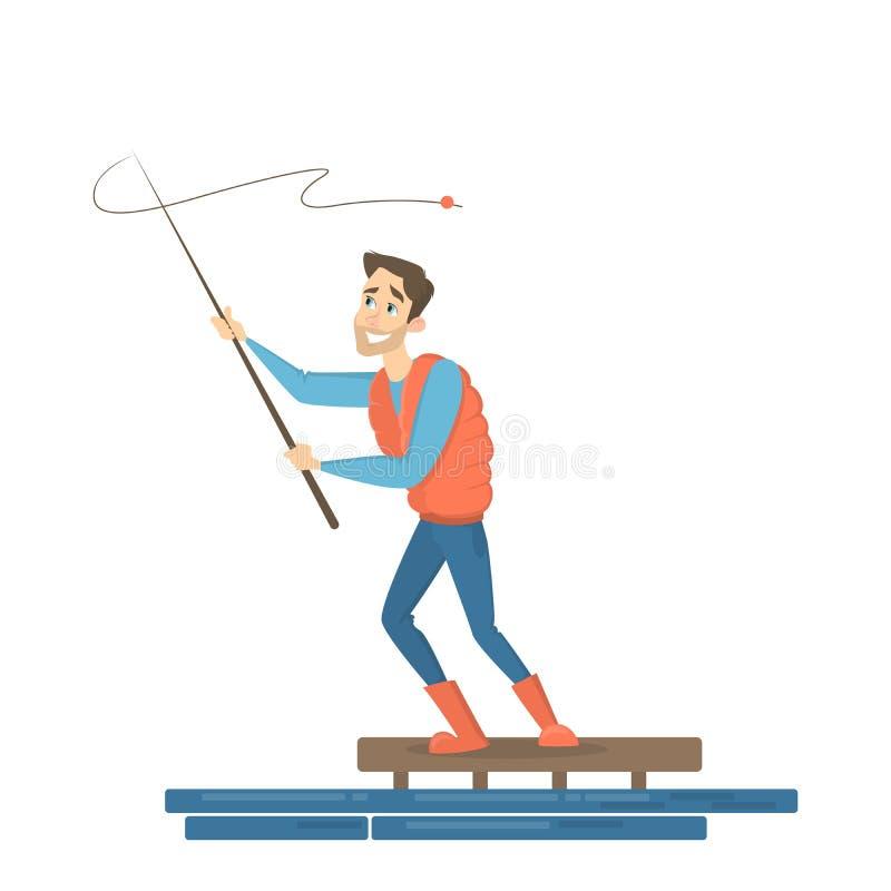 Geplaatste vissersmensen vector illustratie