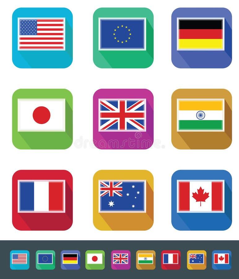 Geplaatste vlaggen vector illustratie