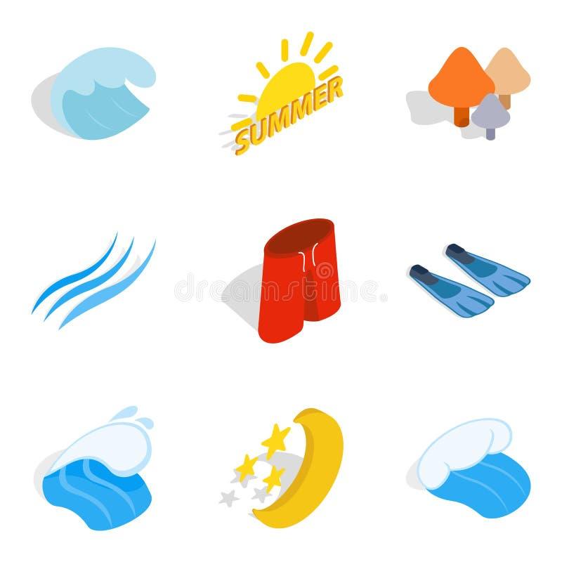 Download Geplaatste Vredespictogrammen, Isometrische Stijl Vector Illustratie - Illustratie bestaande uit nearsighted, reis: 114225384
