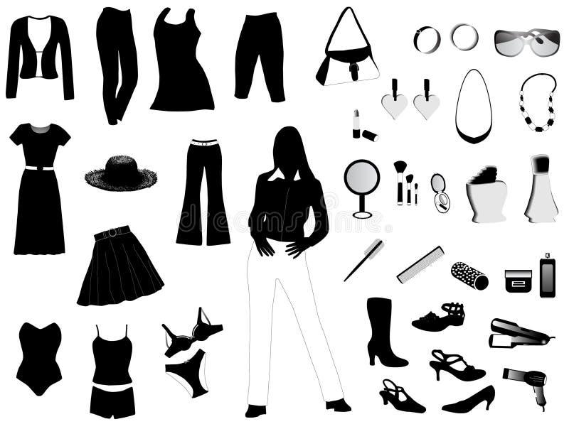 Geplaatste vrouwen vector illustratie