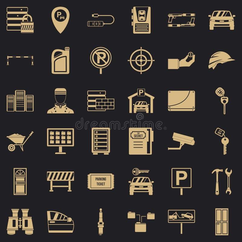Geplaatste wachtwoordpictogrammen, eenvoudige stijl vector illustratie