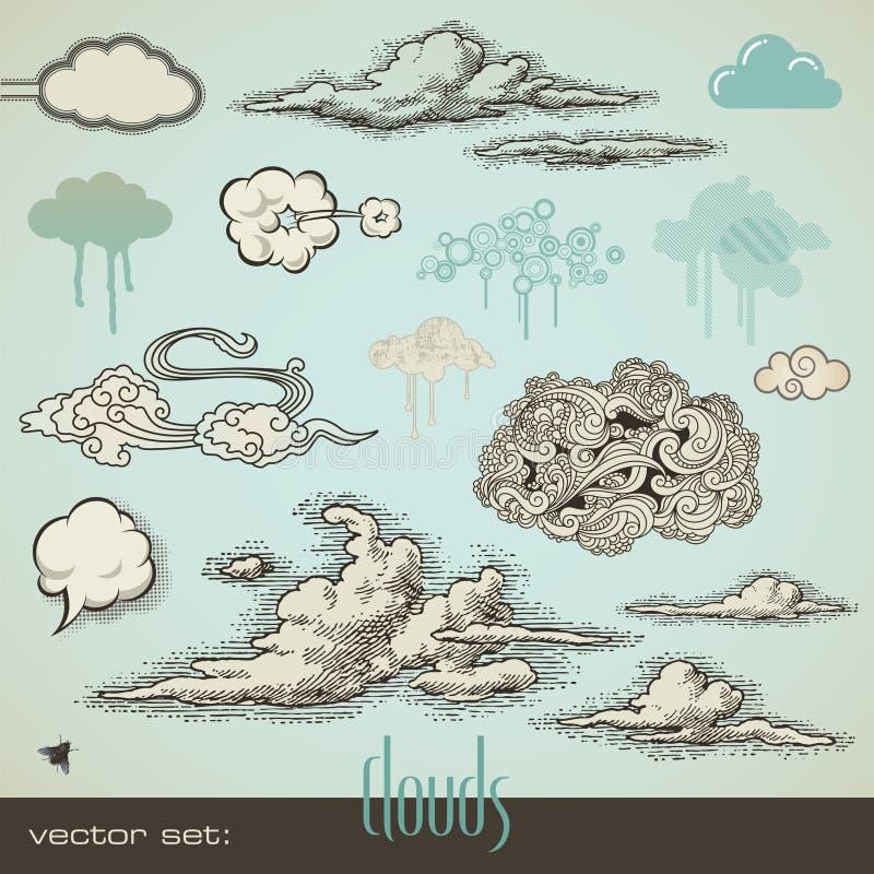 Geplaatste wolken royalty-vrije illustratie
