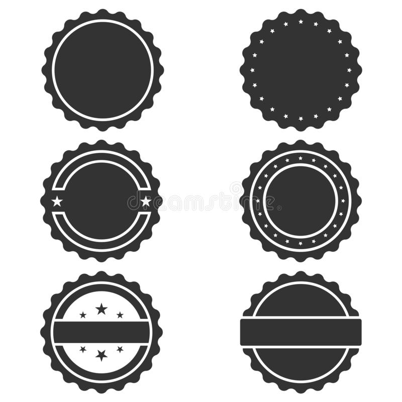 Geplaatste zegels grafische pictogrammen royalty-vrije illustratie