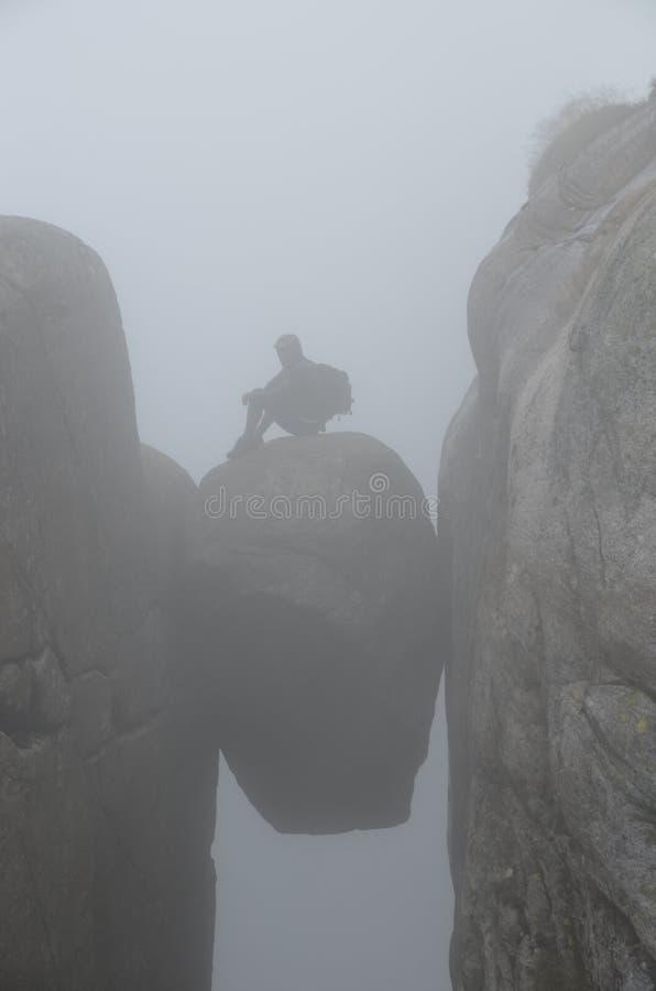 Geplakt in een mist stock fotografie