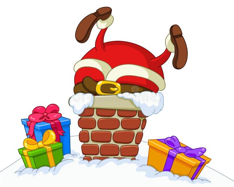 Geplakte Kerstman vector illustratie