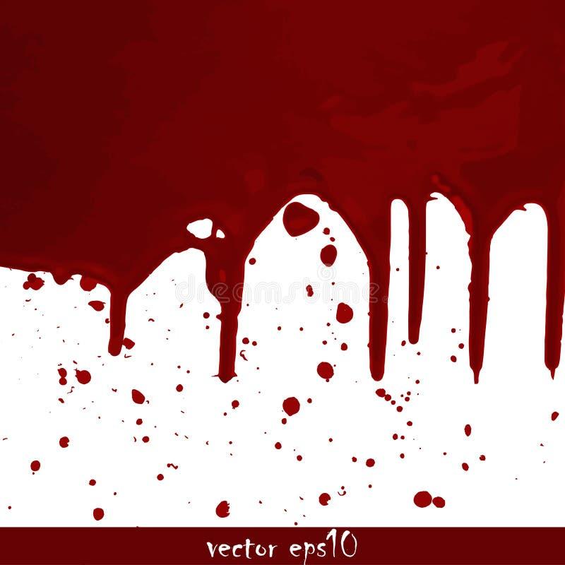 Geploeterde bloedvlekken stock fotografie