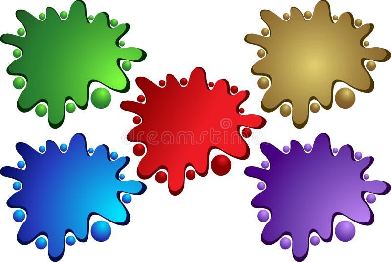 Geploeterde kleur royalty-vrije illustratie