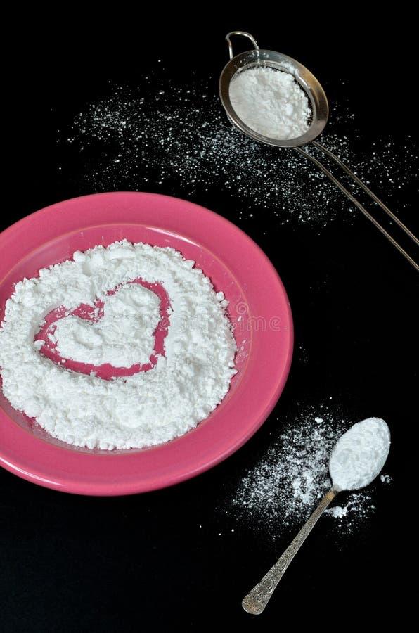 Gepoederde suiker stock foto