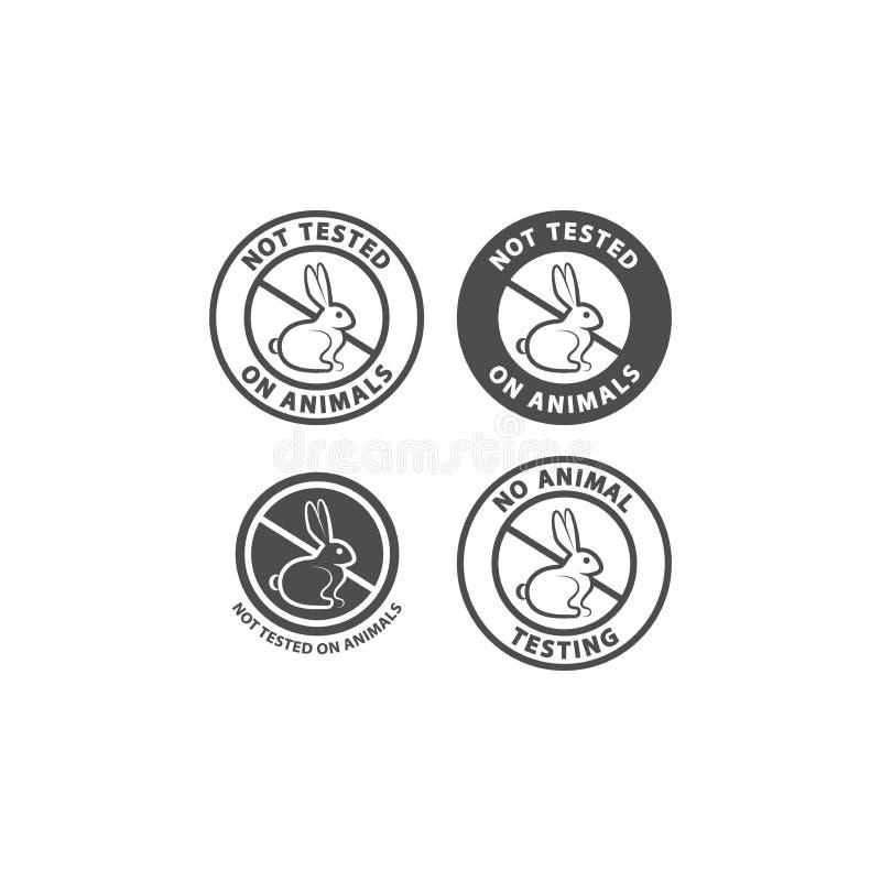 Geprüft nicht auf Tieren und keinem Tierversuchevektorzeichen lizenzfreie abbildung