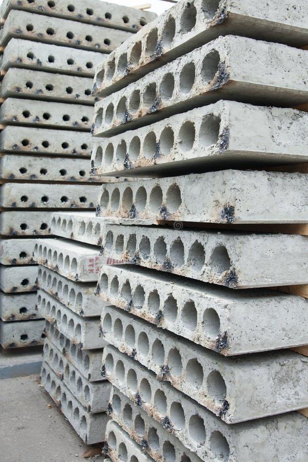 Geprefabriceerde gewapend beton plakken royalty-vrije stock foto's