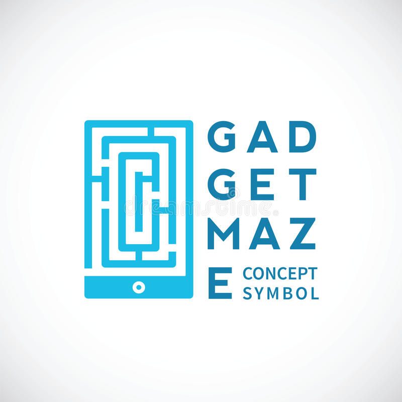 Gerät Maze Abstract Vector Concept Icon vektor abbildung