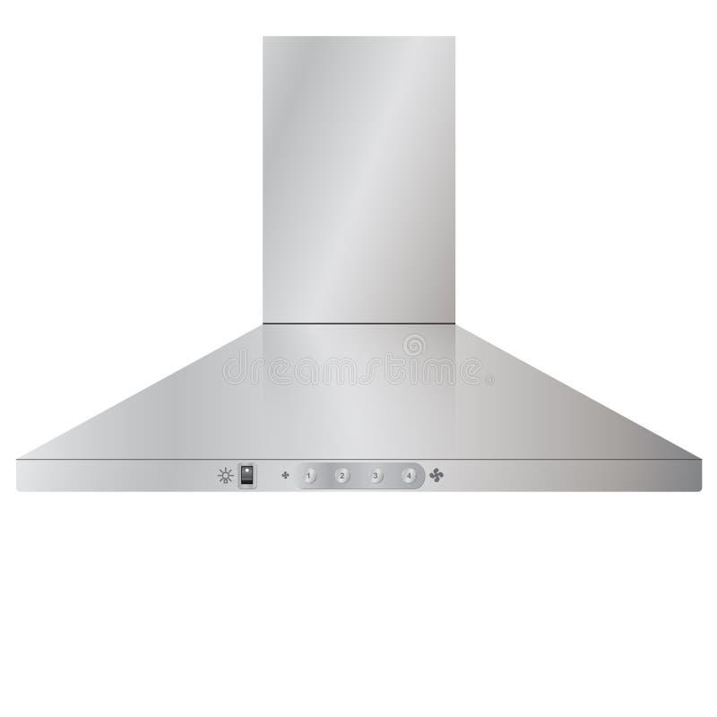 geräte Moderne KüchenDunstabzugshaube stock abbildung