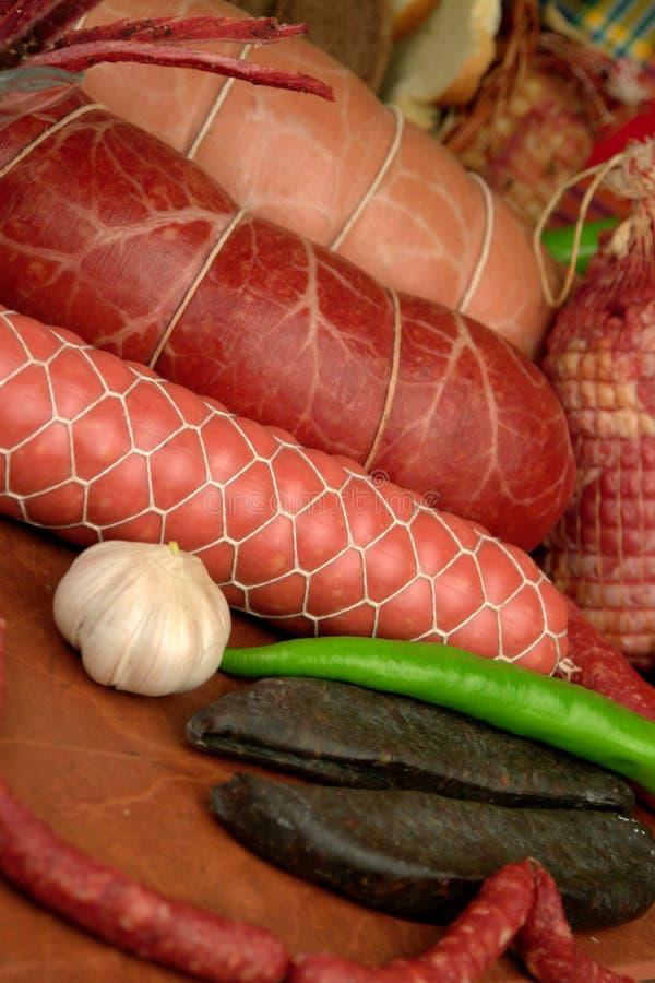 Geräucherte Fleischprodukte lizenzfreies stockbild