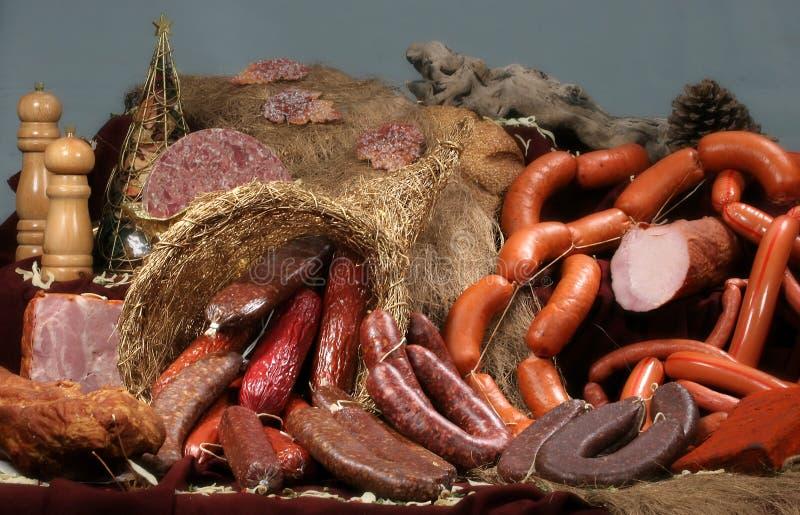 Geräucherte Fleischprodukte stockfotos
