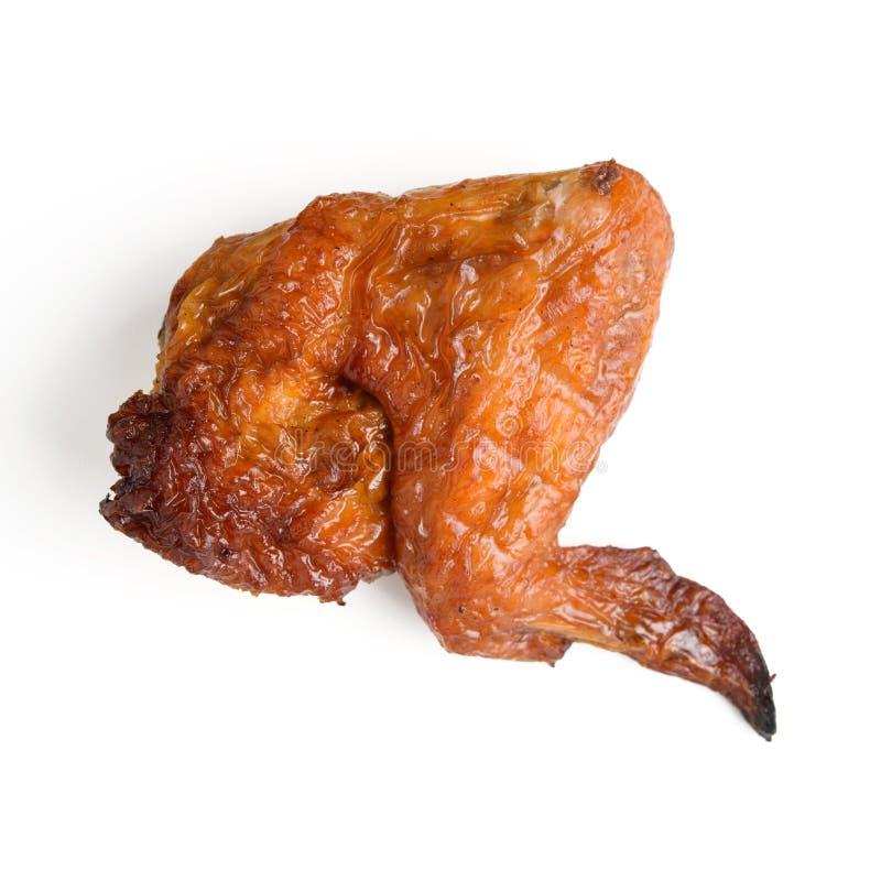 Geräucherte Hühnerflügel lizenzfreie stockbilder