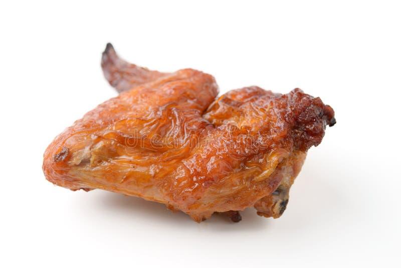 Geräucherte Hühnerflügel lizenzfreie stockfotos