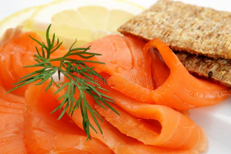 Download Geräucherter Lachs stockfoto. Bild von scheibe, gesundheit - 27727372