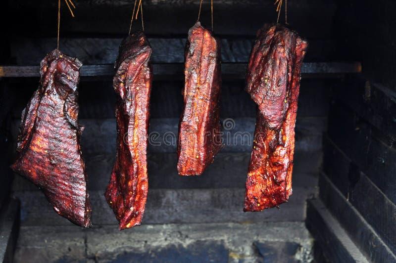 Geräuchertes Fleisch stockfotografie
